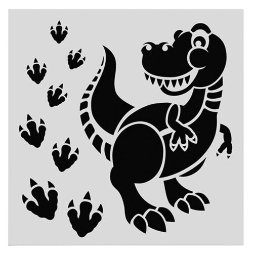cake star stencil dinosaur