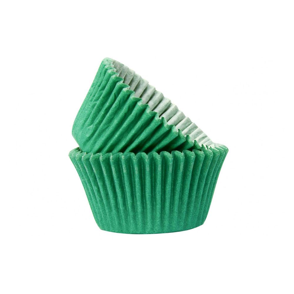 cupcake case dark green