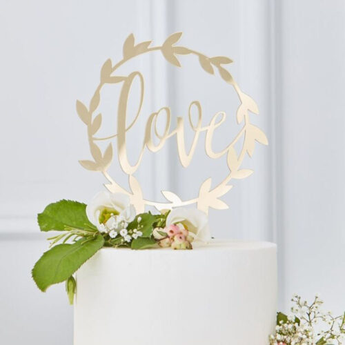 gingerray wedding cake topper love cake
