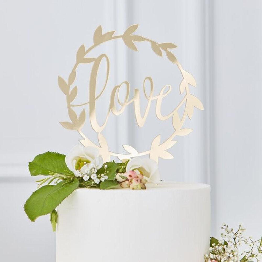 gingerray wedding cake topper love cake
