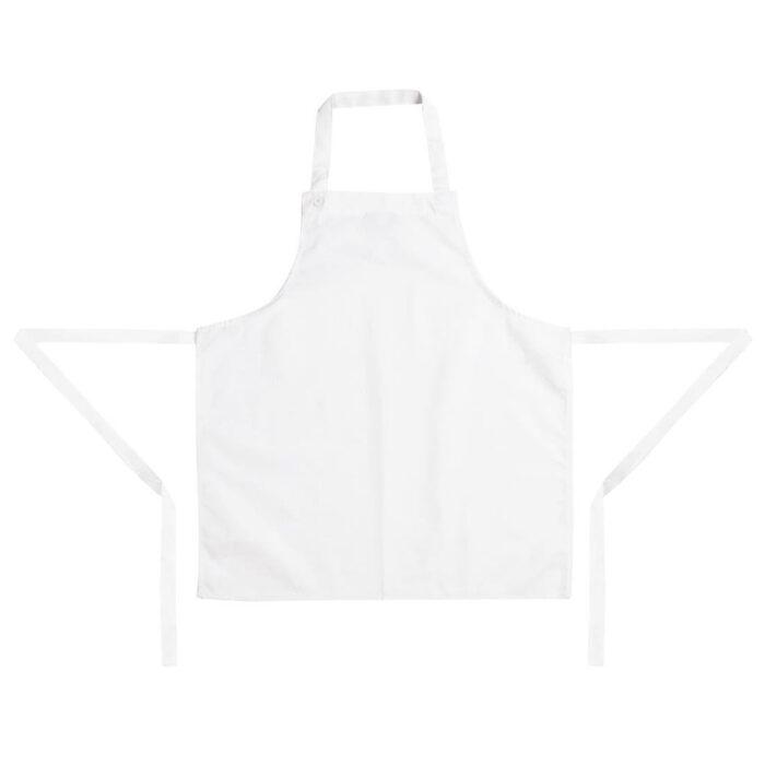 kids apron white