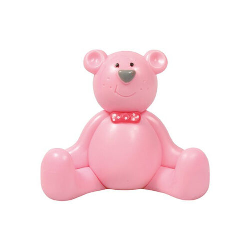 christening pink teddy bear