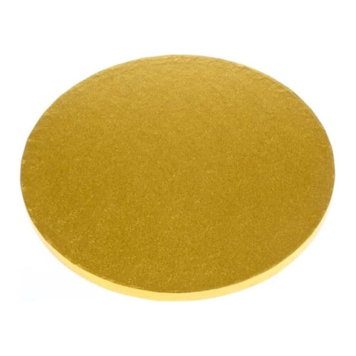 round cake drum gold board