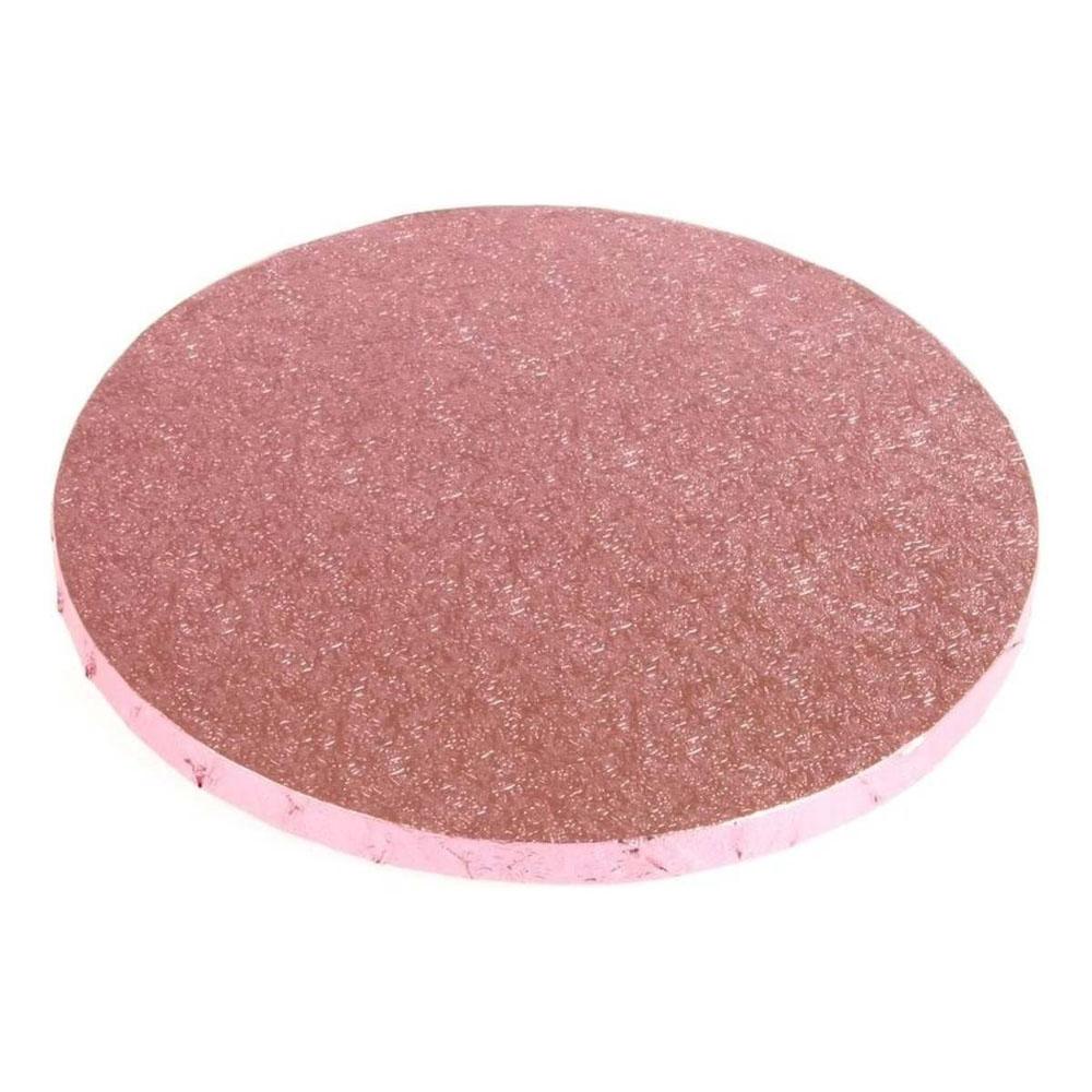 round cake drum pink board