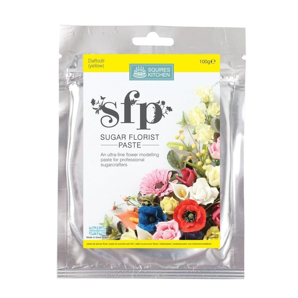squires kitchen flower paste daffodil yellow