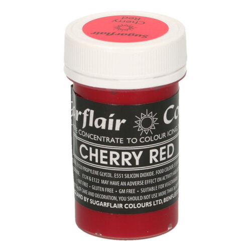 sugarflair cherry red