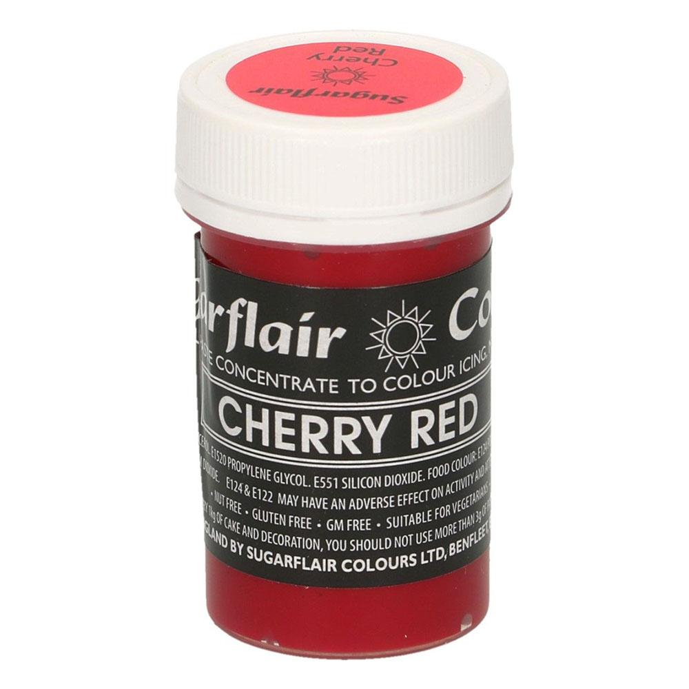 sugarflair cherry red