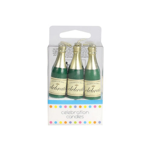 candles champagne bottles