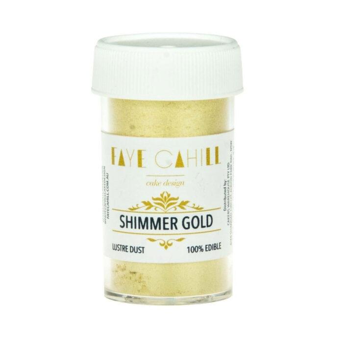 faye cahill shimmer gold