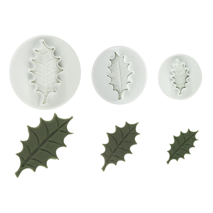 pme holly leaf cutter set of 3