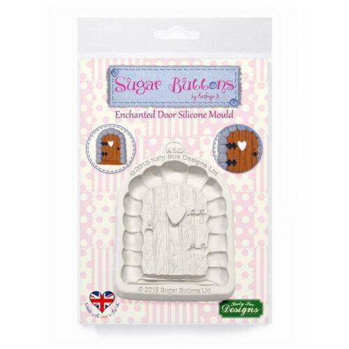 katy sue designs enchanted door mould sugar buttons
