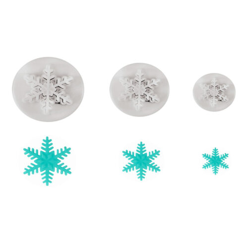 mini set of snowflake cutter
