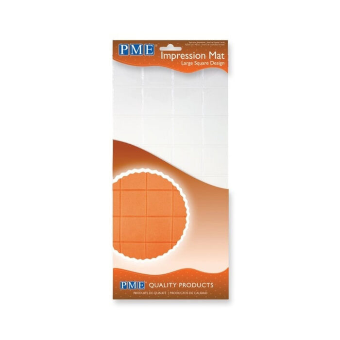 pme large square design impression mat