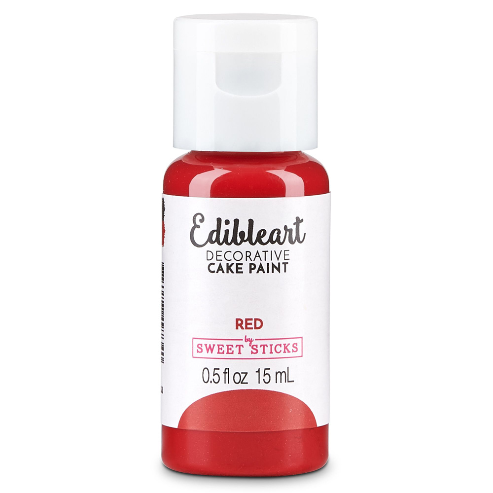 sweet stick edible art red paint