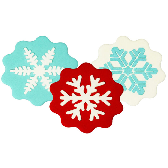 snowflake stencil set of 3