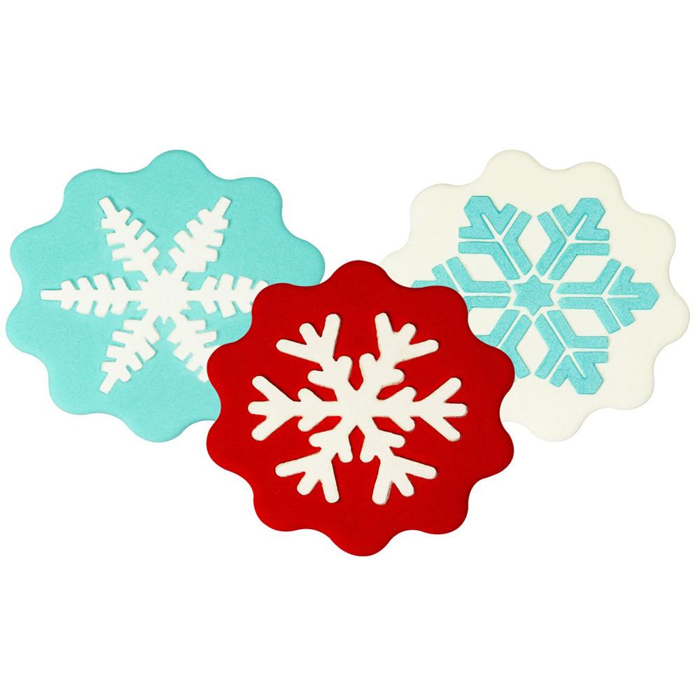 snowflake stencil set of 3