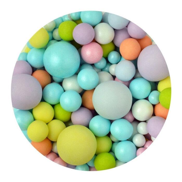 sprinkletti multicoloured bubbles edible sprinkles