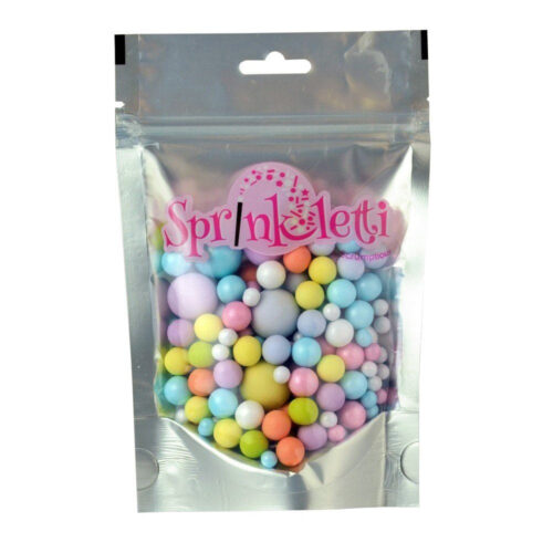 sprinkletti multicoloured bubbles edible sprinkles