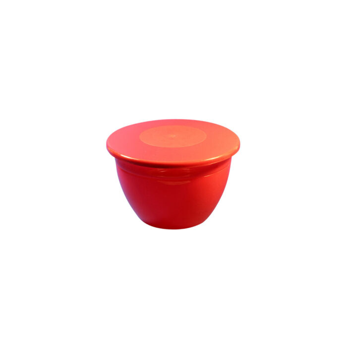 1lb Pudding Bowl Lid Red