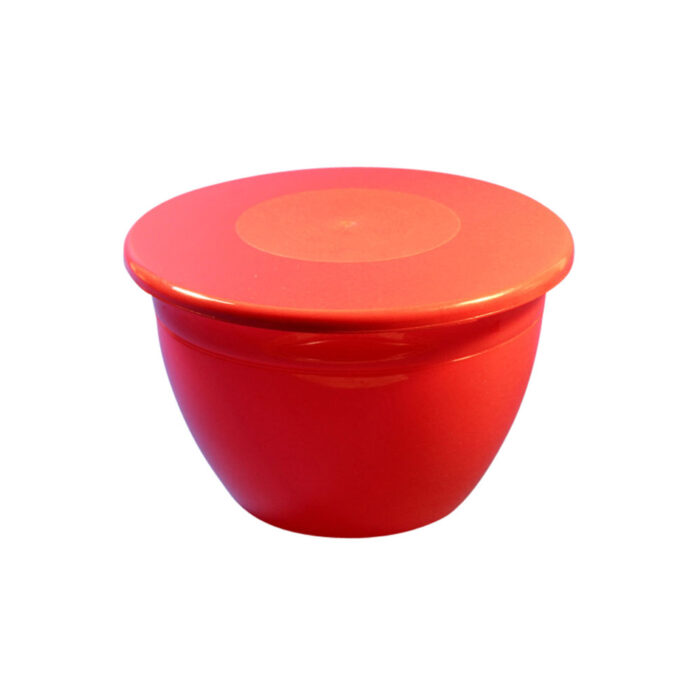 2lb Pudding Bowl Lid Red