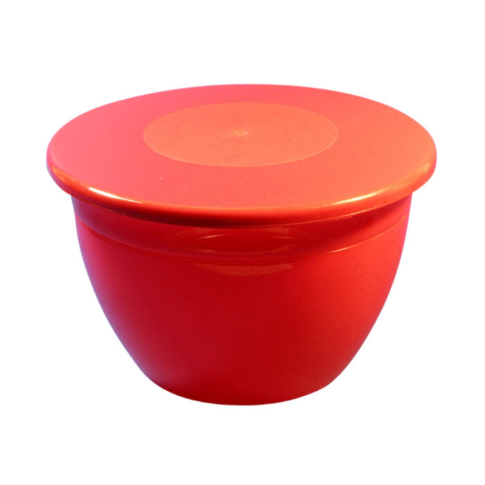3lb Pudding Bowl Lid Red