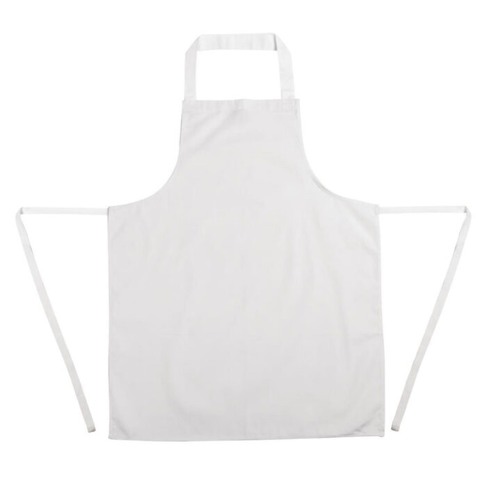 apron white no pocket