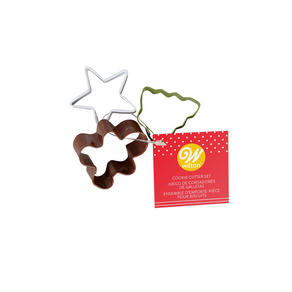 cookie cutter set of 3 christmas