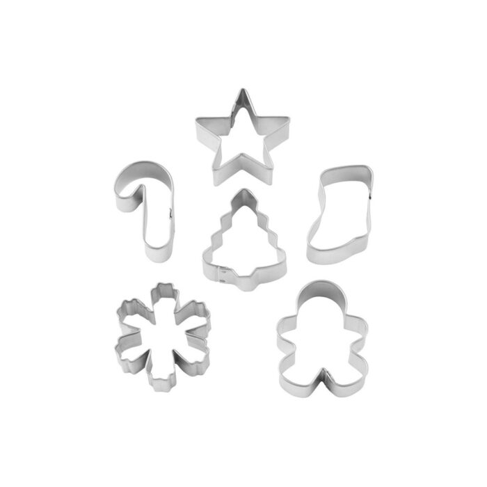 cookie cutter set of 6 christmas