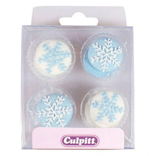 culpitt snowflake sugar pipings edible decoration
