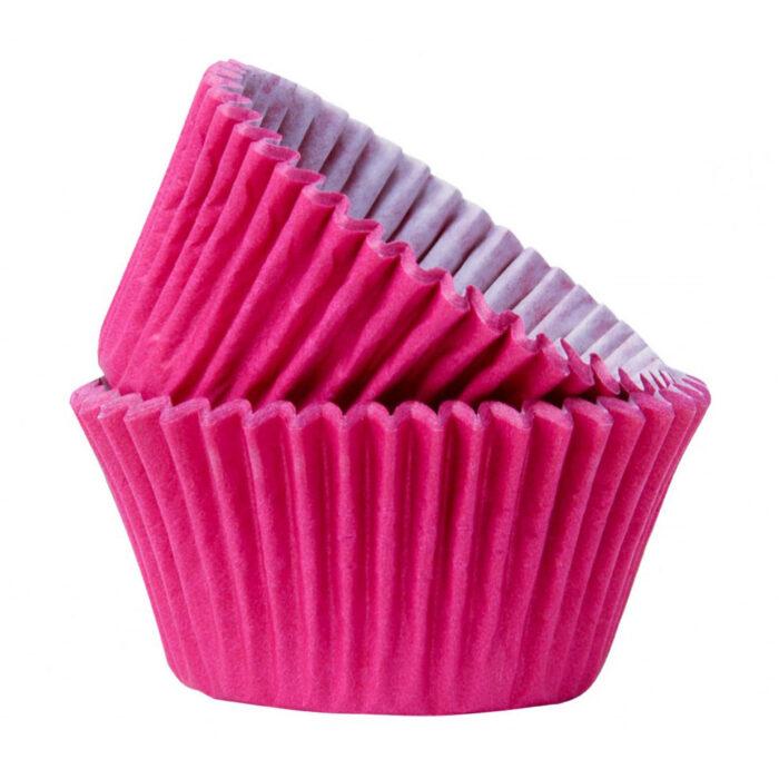 Fuchsia pink cupcake case