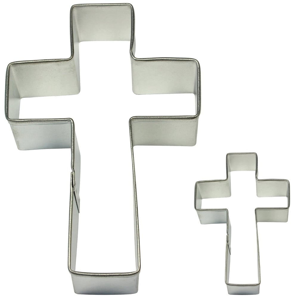 pme cross cake and cookie cutter set of 2