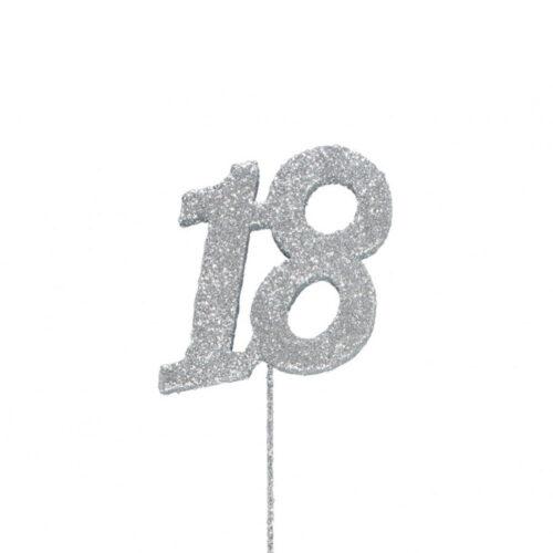 cake topper glitter 18