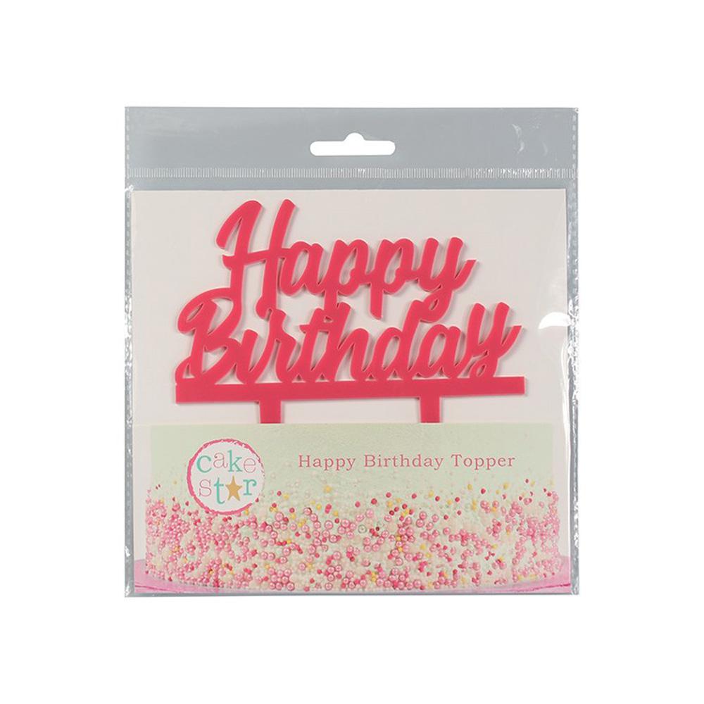 culpitt pink cake topper