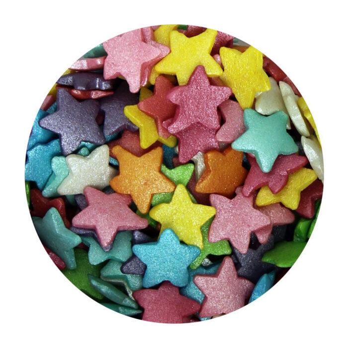 rainbow sprinkles stars large