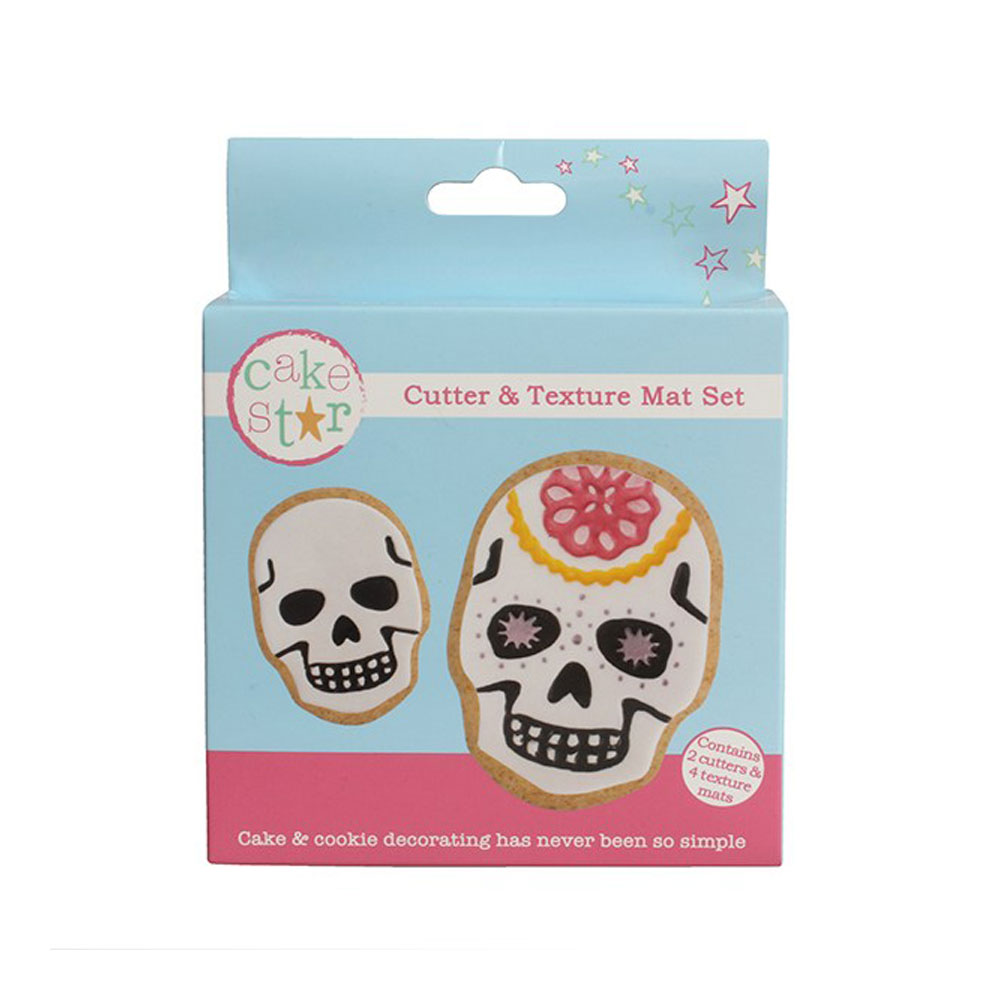 skull cookie cutter set