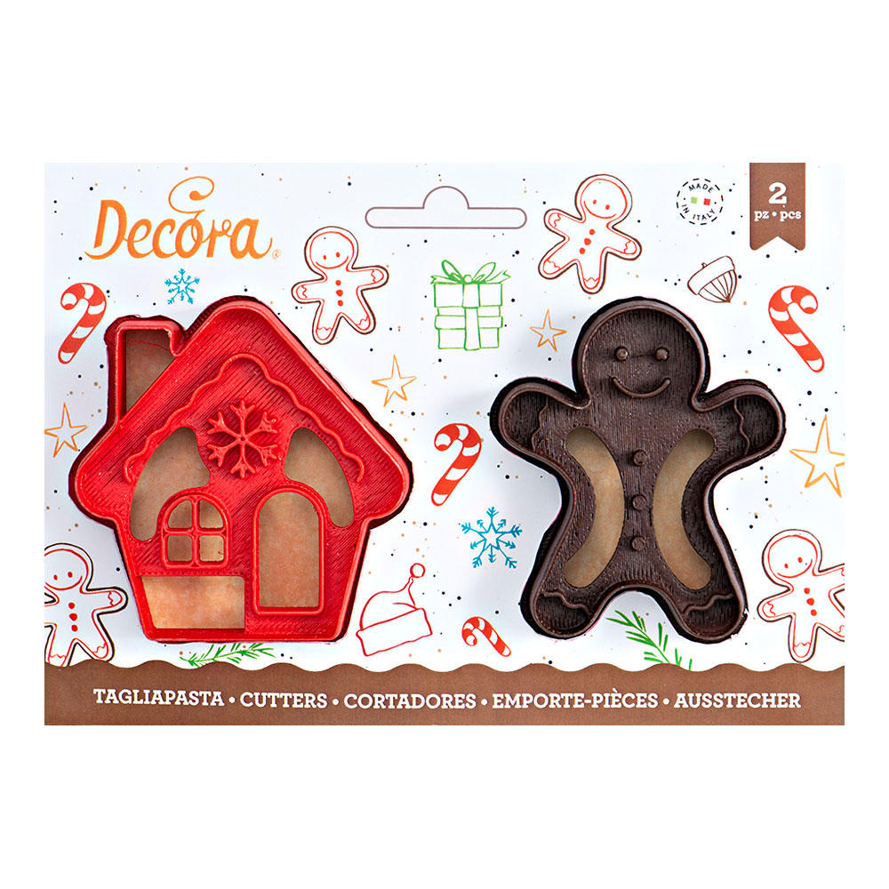 gingerbread house and man cookie cutter set