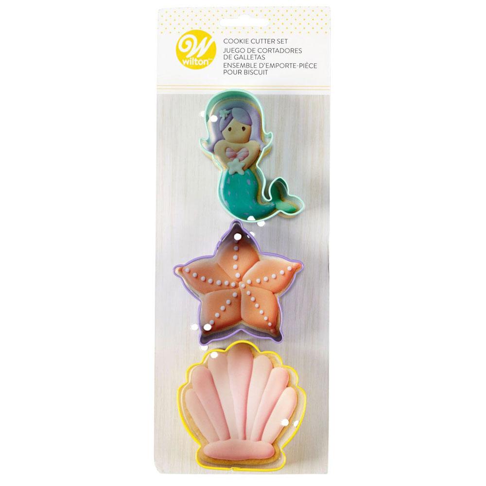 mermaid cookie cutter set