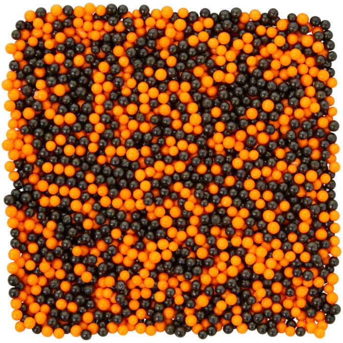 orange and black nonpareils