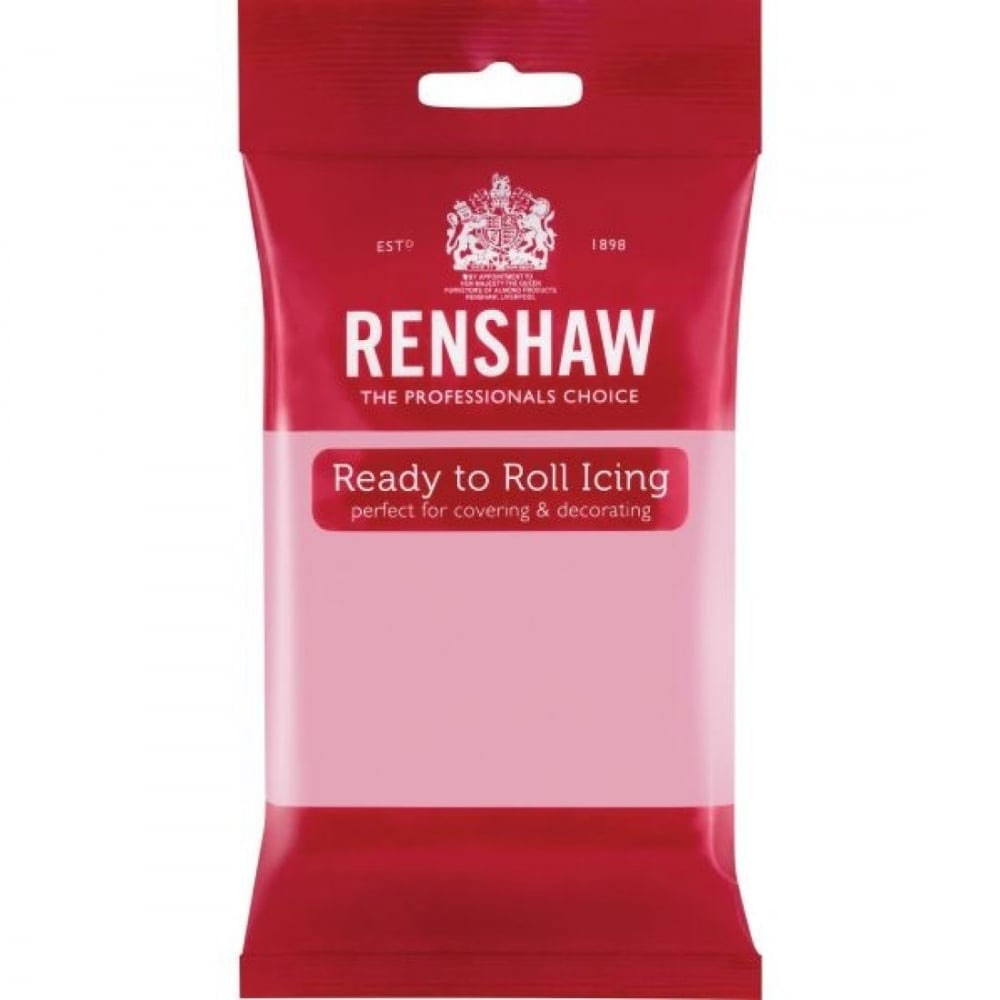 renshaw pink fondant sugarpaste