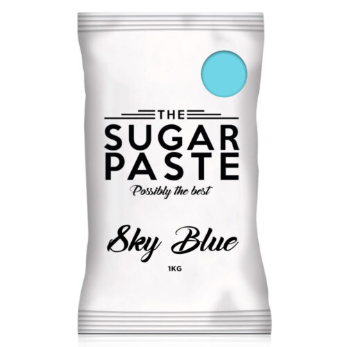 sky blue sugarpaste