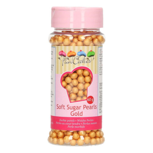 sugar pearls gold funcake