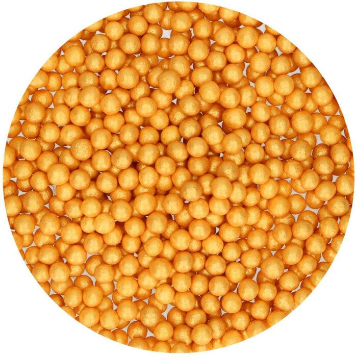 sugar pearls gold funcake