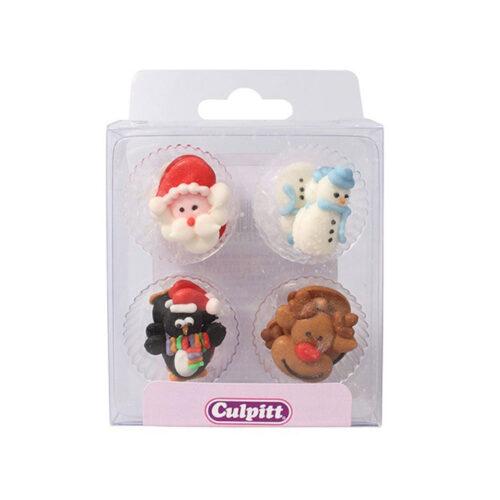 christmas piping santa and snowman