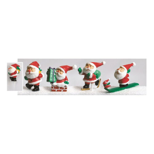 plastic santa set of 4