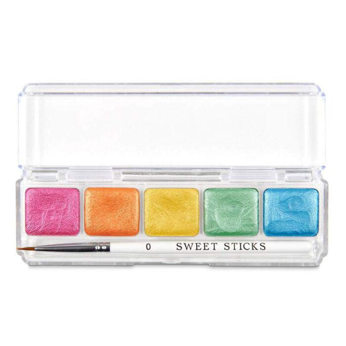 rainbow paint palette