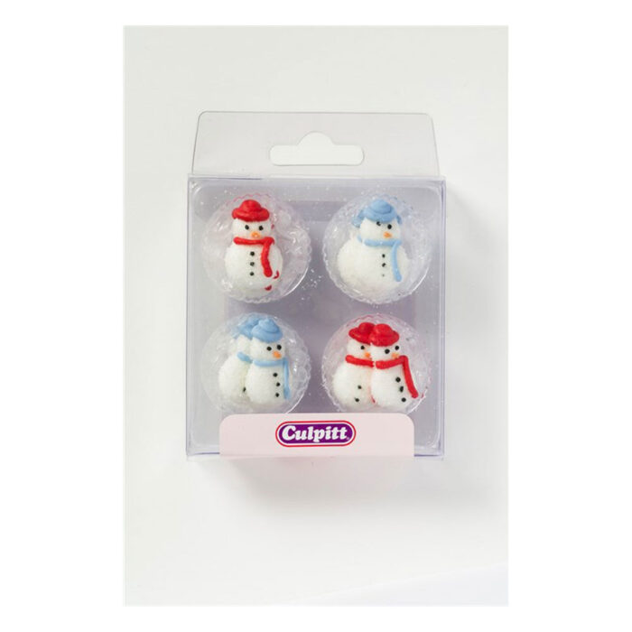 snowman sugar piping