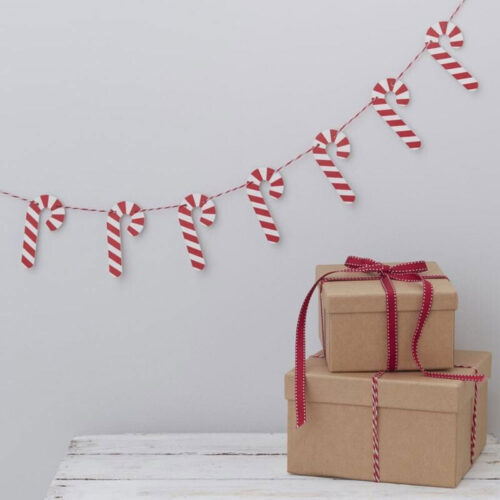 candy cane bunting