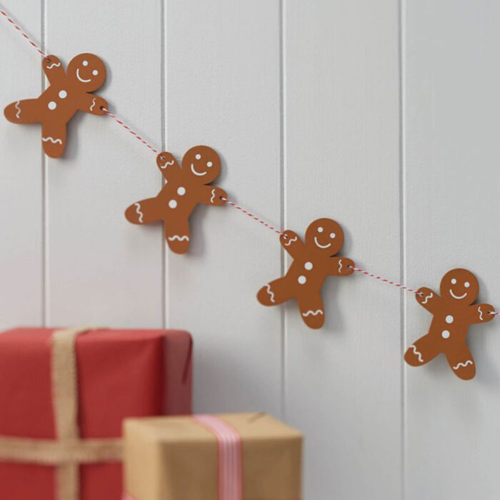 gingerbread men bunting