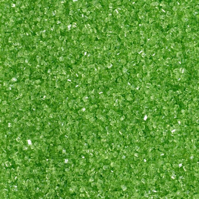green glitter sugar