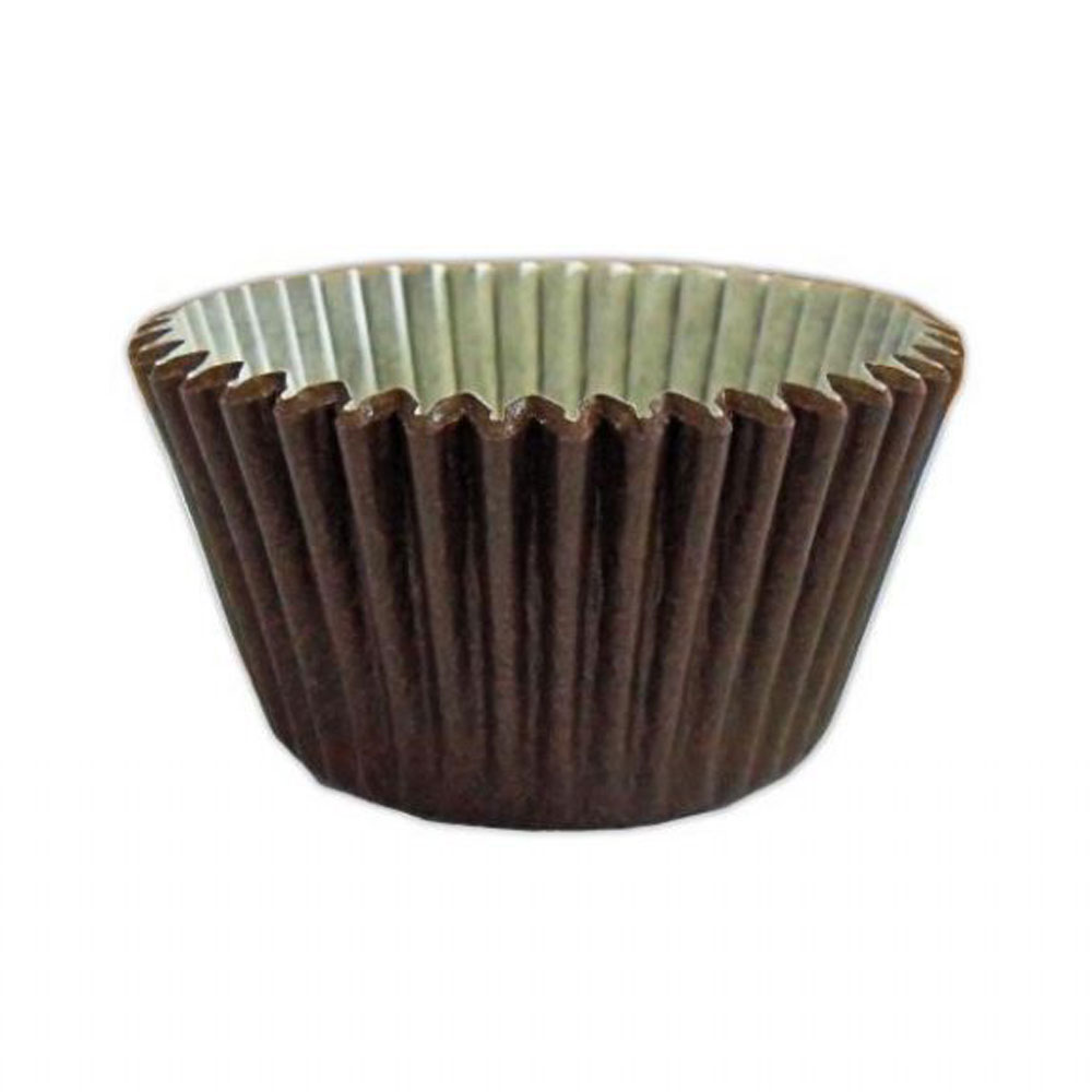brown cupcake cases